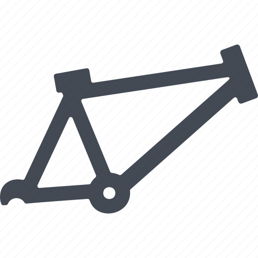 bicycle, bicycle frame, spare part, transport icon