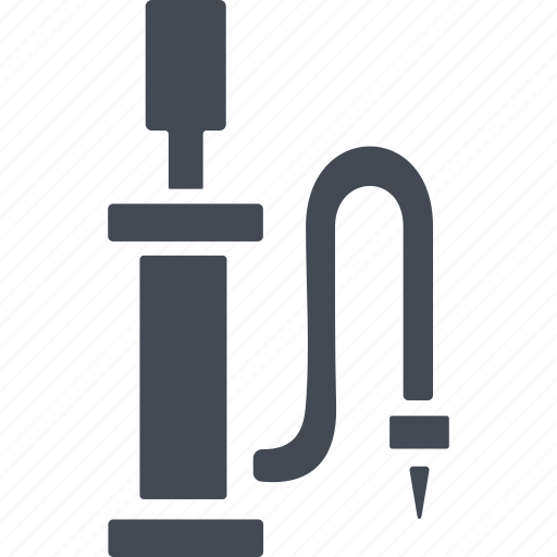 bicycle, bike, pump, pump for inflating tires icon