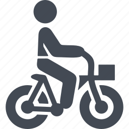 bicycle, bike, cycle, cyclist, sport, transport icon