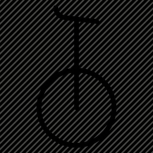 bicycle, bike, circus, cycle, mono, transport, unicycle icon