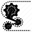 bicycle, chain, gear, system, tool