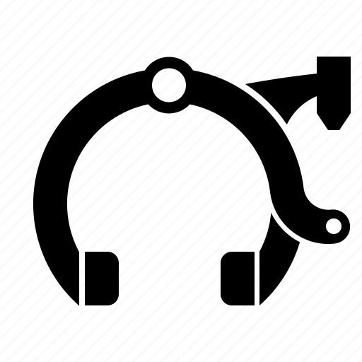 bicycle part, brake, caliper, rim, rim brake icon