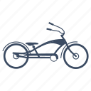 bicycle, bike, bikes, chopper, chopper-style, customized bicycle, cycle icon
