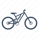 bicycle, bike, cycle, cycling, downhill, sport icon