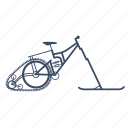 bicycle, bike, cycle, snow, snowbike icon