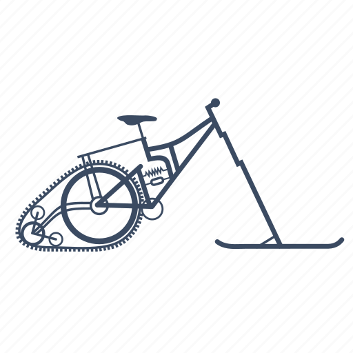 Bicycle, bike, cycle, snow, snowbike icon - Download on Iconfinder