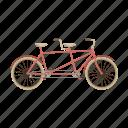 tandem, vehicle, transportation, bicycle, eco, bike