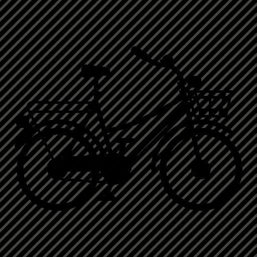 basket, bicycle, bike, city, citybike, shopping, shopping-bike icon