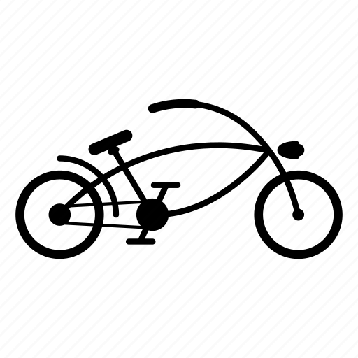 bike, chopper, chopperbike, cyclist, hipster, long, longbike icon