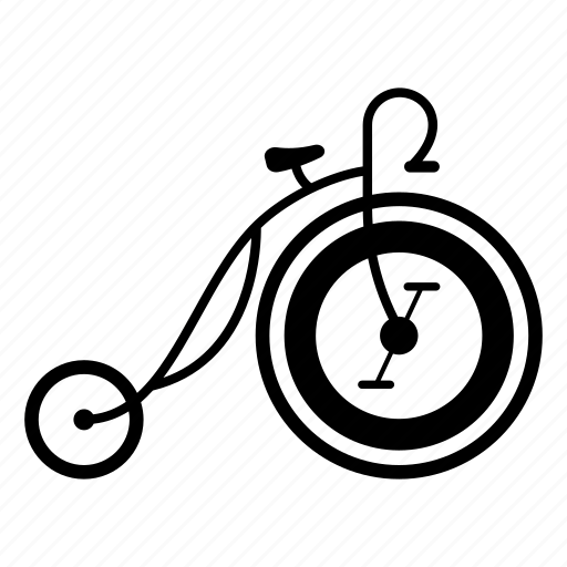 big-wheel, bike, old, old-bike, retro, vintage, wheel icon