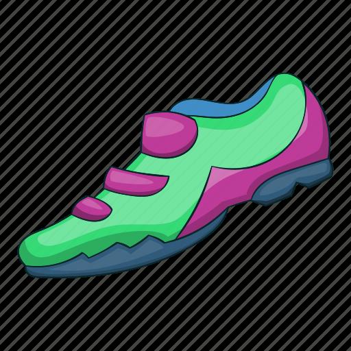 activity, bicycle, bike, cartoon, shoe, sign, sneaker icon