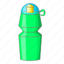 beverage, bottle, cartoon, drink, health, sport, water icon
