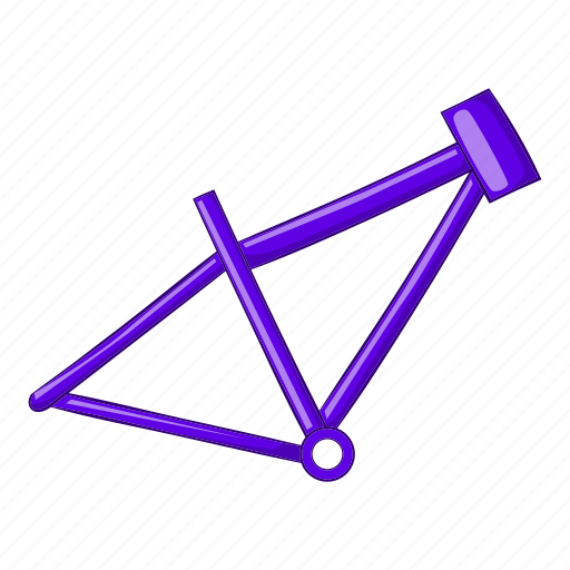 Bicycle, bike, cartoon, frame, illustration, ride, sport icon - Download on Iconfinder