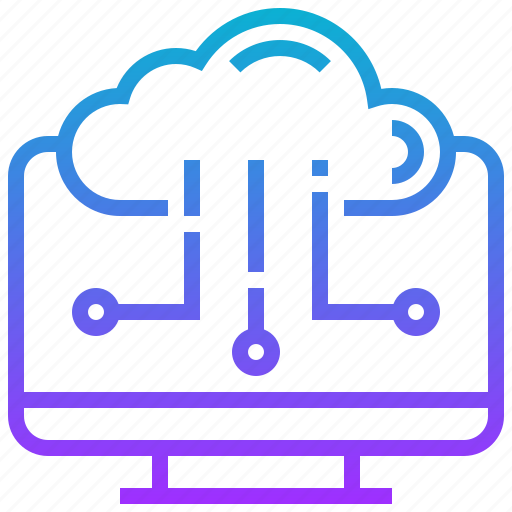 cloud, computer, computing, desktop, transfer icon