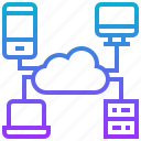 cloud, computer, computing, platform, smartphone icon