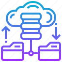 backup, cloud, data, database, file icon