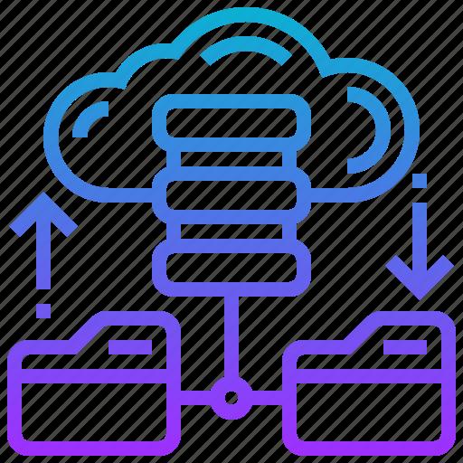backup, cloud, data, database, file icon