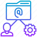 complexity, data, file, gear icon