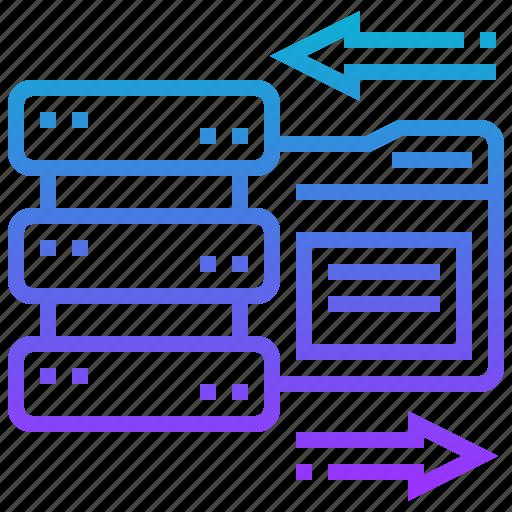 data, database, file, storage, system icon