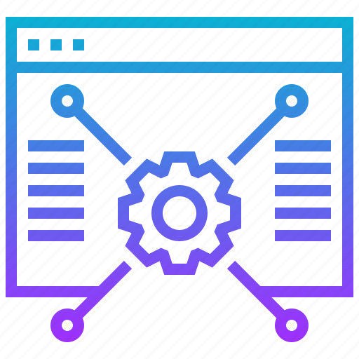 data, gear, structure, website icon