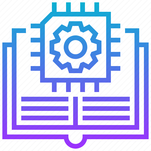 artificial, book, ic, intelligence, learning, machine icon