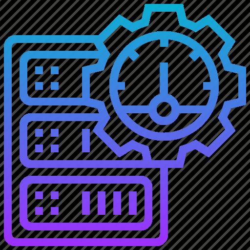 database, performance, server, speed icon
