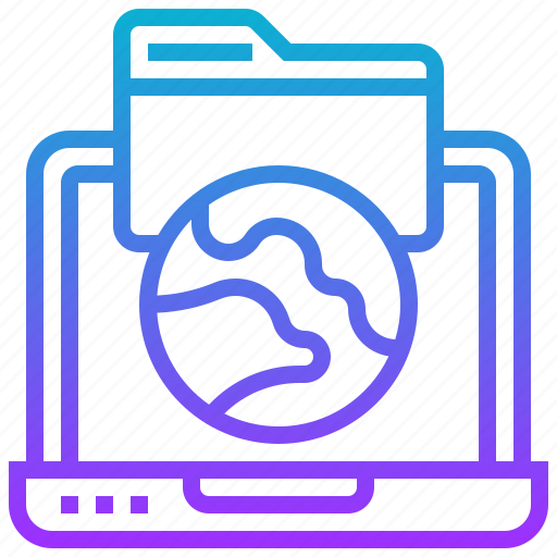 computer, earth, file, notebook, service, web icon