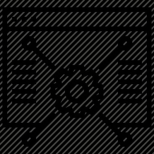 data, gear, structure, website icon