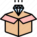 analytic, box, data, diamond, processing, report