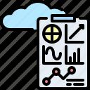 big, chart, cloud, data, graph, report, statistics icon