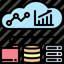 cloud, connection, database, network, server, statistics, folder