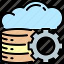 cloud, computing, database, gear, multimedia, servers, storage