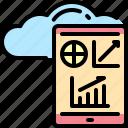 analytic, cloud, mobile, report, servers, smartphone, statistic
