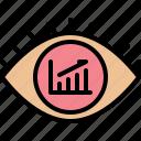 analytic, chart, data, eye, report, statistics