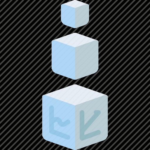 analytics, big, box, data, processing, statistics, storage icon