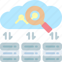 cloud, massively, processing, servers, statistics, storage, transfer icon