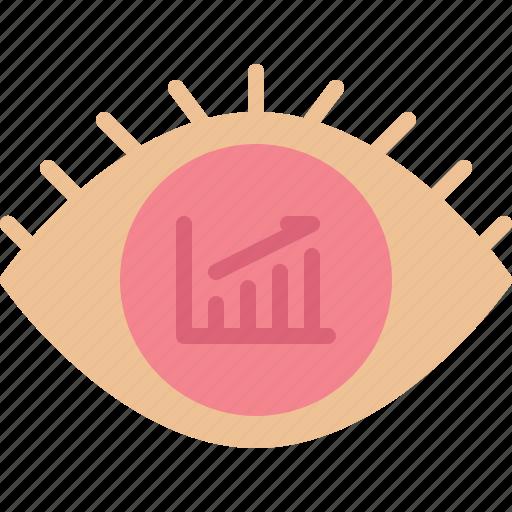 analytic, big, chart, data, eye, report, statistics icon