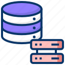 big data, data exchange, data source, database, database server, distributed computing icon