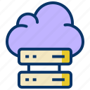 big data, cloud database, cloud server, data center, data server, hosting server, network icon