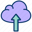 cloud computing, cloud database, cloud network, cloud server, cloud storage, online storage icon