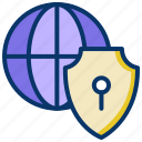backup, global protection, global security, lock, network, safety, security icon