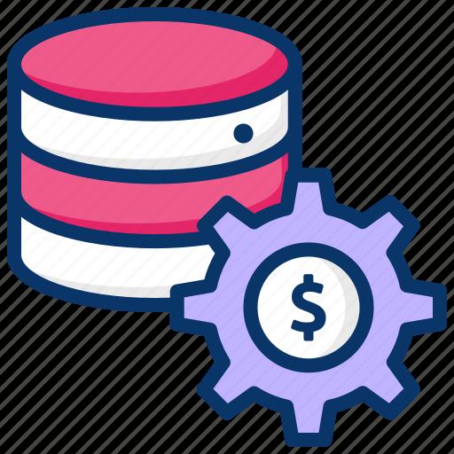 bank server, banking database, big data, database server, financial database icon