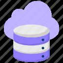 big data, cloud database, cloud server, data center, data server, hosting server, network icon