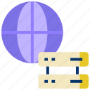 big data, data center, global server, global storage, hosting server, main server icon