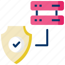 data center, database, database server, protection, safety, security icon
