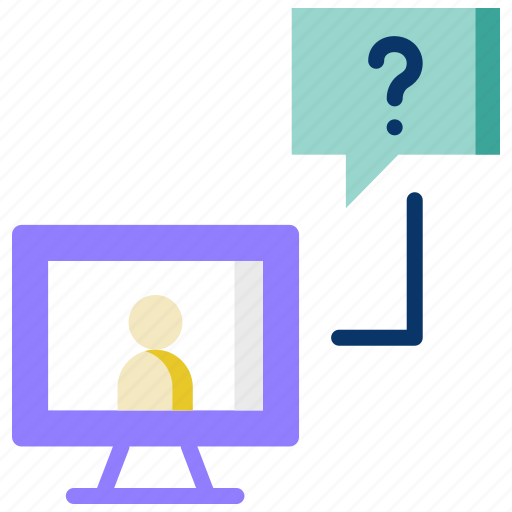 chat, communication, customer support, help, support, video conversation icon
