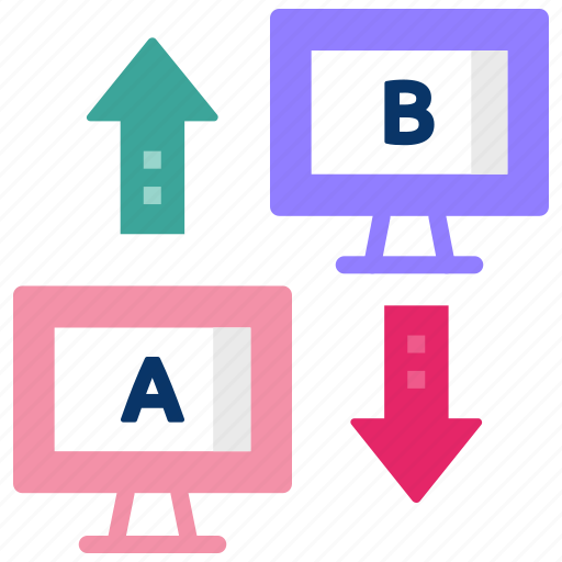 ab testing, application testing, big data, comparison, data analytics, usability icon
