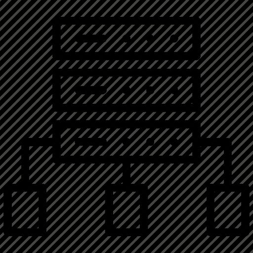 data organization, data structure, database, dataserver, dataserver structure icon