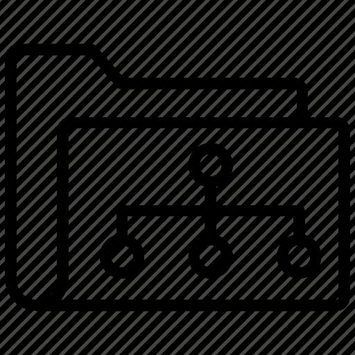 archive, document, file, folder, folder structure icon