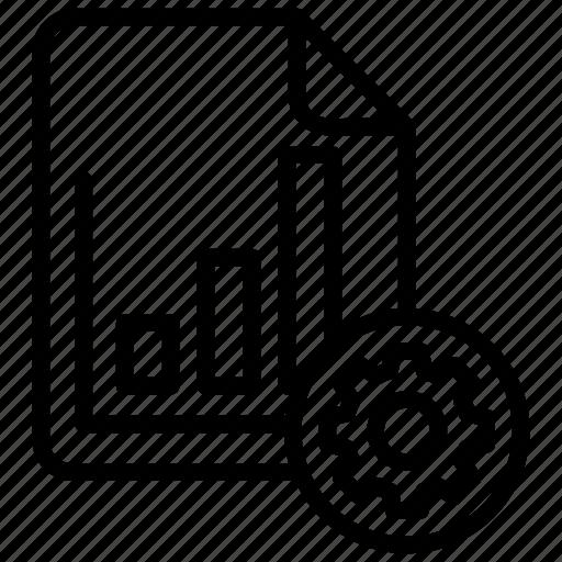 data governance, data management, data processing, report management, report processing icon